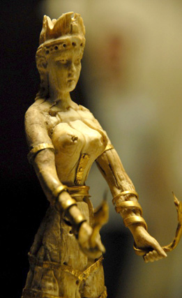 ivory and gold statuette