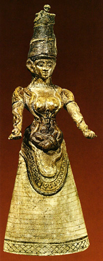 another faience snake goddess