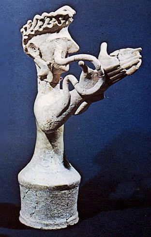 Minoan terracotta Snake Goddess