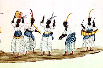 Afro-Brazilian women dancing in ritual
